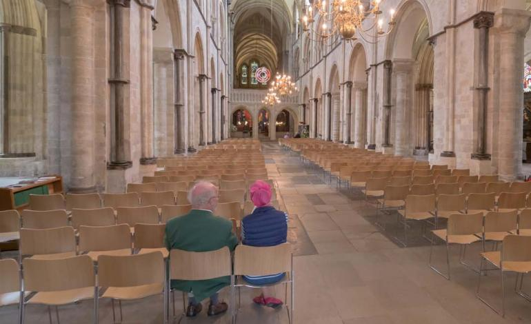 New seating for Cathedral Nave