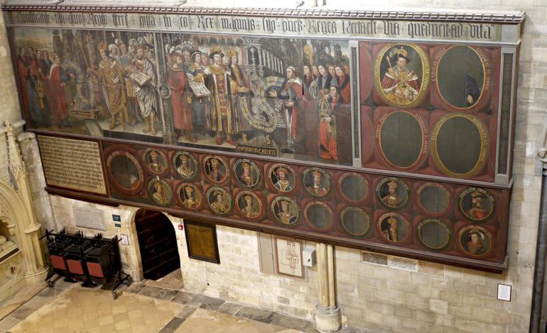 Restored Lambert Barnard Painting in North Transept