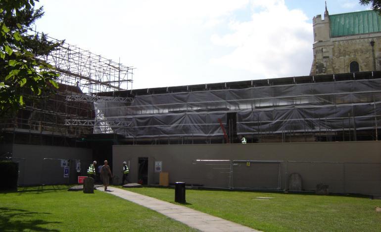 eastern cloister under scaffolding