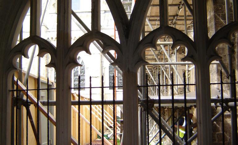 eastern cloister work underway