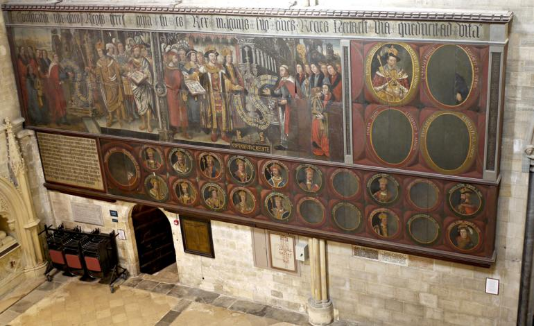 Painting in the North Transept