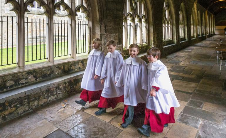 Choristers at Chichester Cathedral
